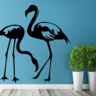 (35''x35'') Vinyl Wall Decal Flamingo Couple Birds Romantic Love Art Decor Sticker + Free Decal Gift