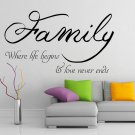 (16''x9'') Vinyl Wall Decal Quote Family / Inspirational Text Art Decor Sticker + Free Decal Gift!