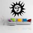 (35''x33'') Vinyl Wall Decal Sun & Moon / Crescent Ethical Symbol Decor Sticker + Free Decal Gift!