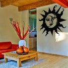 (39''x36'') Vinyl Wall Decal Sun & Moon / Crescent Ethical Symbol Decor Sticker + Free Decal Gift!