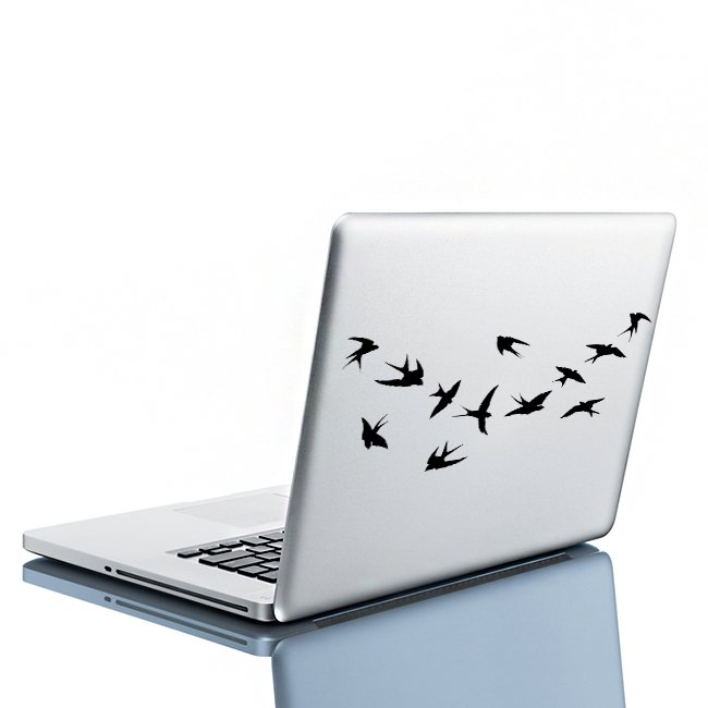 (8''x6'') Vinyl Wall Decal Flock of Birds / Art Decor Home Sticker + Free Decal Gift