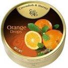 Cavendish And Harvey Fruit Hard Candy Orange Drops - 150g
