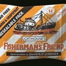 (Pack of 12) Fisherman's Friend 25g Sugar free Mandarin & Grapefruit Lozenges