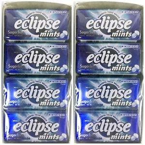 (Pack of 16) Eclipse Winterfrost Sugarfree Mints 34g