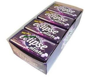 (Pack of 8) Eclipse Sugarfree Mints - Blackcurrant 34g