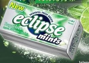 (Pack of 8) Eclipse Sugarfree Mints - Lime 34g