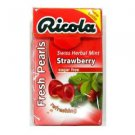 (Pack of 20) Ricola Herbal Sugar-Free Strawberry Fresh Mints 25g