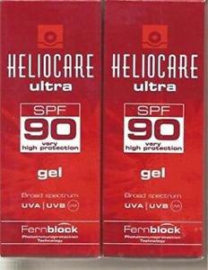 (Pack of 4)  Heliocare Ultra Uvb/uva Spf 90 Gel 50ml