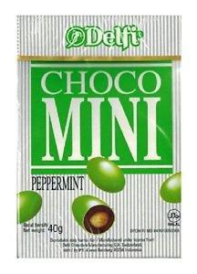6 packs of Delfi Choco Mini Candy 40g (Peppermint Choco)