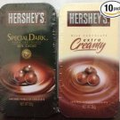 (Pack of 10) Hershey's Milk Chocolate & Dark 65% CACAO Chocolate 2 tastes
