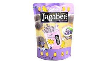 Calbee Jagabee Purple Potato Sticks One Big Pack Contains 5 of 17g