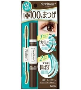 Sana New Born W Mascara EX (#02 Dark Brown) (12g) (#02 Dark Brown)