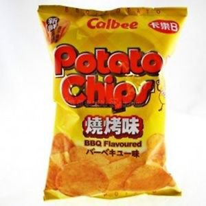(Pack of 3) Calbee BBQ / Hot & Spicy Flavoured Potato Chips 105g