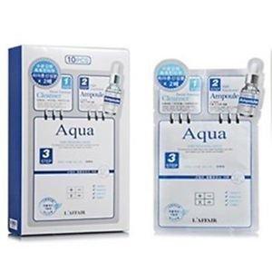 L'AFFAIR Rainbow 3-Step Skin Renewal Mask (Aqua) (10piece) Korea Import