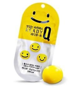 10 PACK OF READY Q CHEW JELLY RELIEVE HANGOVER JELLY 12G, 43KCAL
