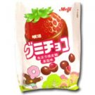 6 Packs of MEIJI STRAWBERRY GUMMY CHOCOLATE 53G