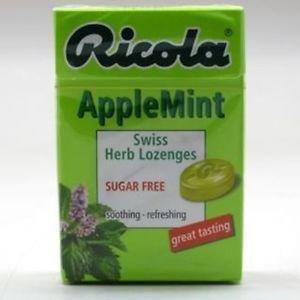 Ricola Swiss Herbal Lozenges Applemint (Pack of 6)