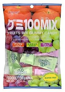 Kasugai Mix Gummy Candy 108g (6 Packs)