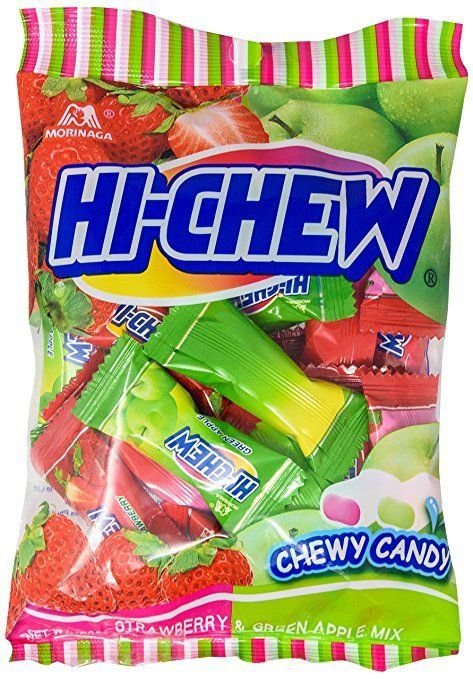 (Pack of 2) Hi-Chew Fruit Strawberry & Green Apple Soft Candy