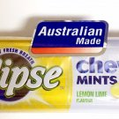 (Pack of 10) Eclipse Chewy Mints - Lemon Lime Flavor 27g Mini Pack (Aus Made)