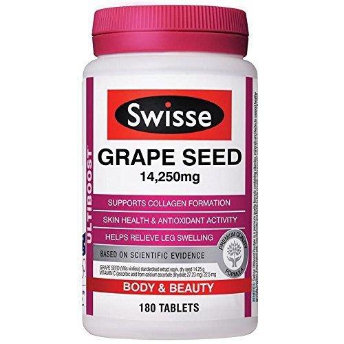 Swisse Ultiboost Grape Seed 14,250mg 180 Tablets (Australia Import) EXP: 12/2019