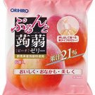 Orihiro Puru do and konnyaku jelly Peach (20gX6 pieces) X6 bags