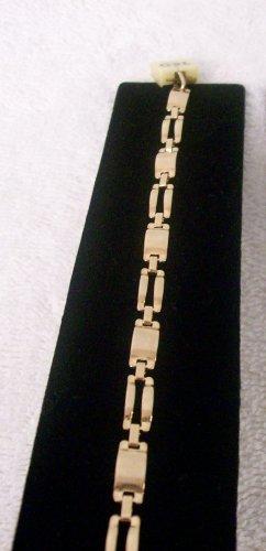 Gold Rectangle Chain Link Bracelet