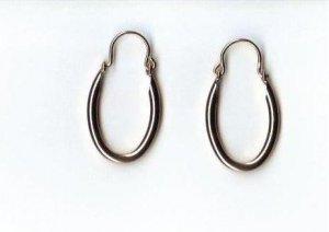 14k Gold GL Hoop Earrings