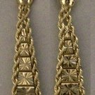 10kt Gold Diamond Cut  Riccio Drop Earrings