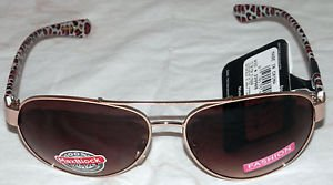 NWT FOSTER GRANT WOMEN'S GOLD METAL COUGAR STYLE SUNGLASSES 100% PROTECTION!!!