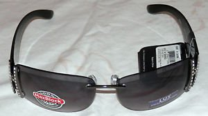 NWT Foster Grant Ladies Lux 6 Rimless Black Sunglasses 100% PROTECTION!!!