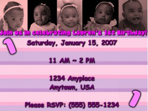 Pink Tinted Personalized Birthday Invitation