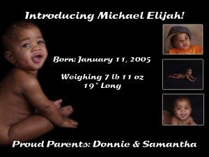 Birth Announcement