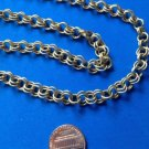 """LOVELY 30"""" LONG DOUBLE CIRCLE LINK CHAIN GOLD TONE NECKLACE 1/4"""" WIDE"""