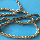 """VINTAGE UNMARKED SILVER TONE COBRA STYLE LINK CHAIN NECKLACE 24"""" X 1/4"""" UNI SEX"""