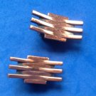 "VINTAGE RENOIR COPPER CLIP ON EARRINGS 1 1/4"" X 1/2"""