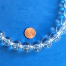 """VINTAGE GRADUATED STRING OF CLEAR LUCITE BEADS UP TO 23"""" X @ 3/4"""" AT THE LARGEST"""