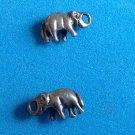 """1/2"""" X 1/4"""" STERLING SILVER TRUNK UP LUCKY ELEPHANT PIERCED EARRINGS - FUN!"""