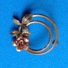 "FEMININE DELICATE ""KREMENTZ"" SINGLE ROSE GOLD TONE PIN. @ 1"" IN DIAMETER"