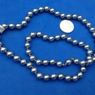 "VINTAGE 1950s NEW NEVER WORN COSTUME GRAY PEARL STRAND NECKLACE 23"" HIDDEN CLASP"