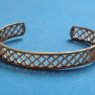 "UNMARKED GOLD TONE FILIGREE OPEN CUFF BRACELET 3/8"" WIDE X 2 1/4"" X 1 3/4"""