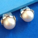 """DIFFERENT WHITE PEARL IN SILVER TONE SETTING CUFF LINKS STAMPED HALLMARK 1/2"""" DIA"""