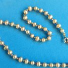 BEAUTIFUL GOLDEN PEARL AND MULTICOLOR CRYSTAL GOLD FILL CHOKER NECKLACE