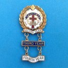 """VINTAGE RELIGIOUS BAPTIST 2ND 3RD & 4TH YEAR ENAMEL PIN """"LITTLE SYSTEM"""""""