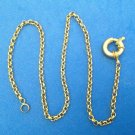"LOVELY GOLD TONE 3/16"" X 20"" CHAIN NECKLACE WITH FANTASTIC 3/4"" CLASP-SEE PICS !"
