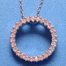 """STERLING SILVER 18"""" CHAIN WITH STERLING SILVER ETERNITY 7/8"""" PENDANT WITH CZs"""