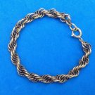 "LOVELY VINTAGE GOLD FILL FANCY CHAIN LINK BRACELET 7"" X 1/4"" - VERY NICE !!"