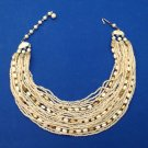 """FABULOUS VINTAGE JAPAN MADE 21 STRAND NECKLACE. UP TO 17.5"""" LONG"""
