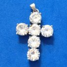JUST DAZZLING SILVER & CZ? CRUCIFIX CROSS PENDANT- PRETTIER THAN PICTURES BY FAR
