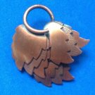 """VINTAGE COPPER LARGE BUNCH OF TEXTURED & SMOOTH LEAVES PIN 2"""" x 2"""""""